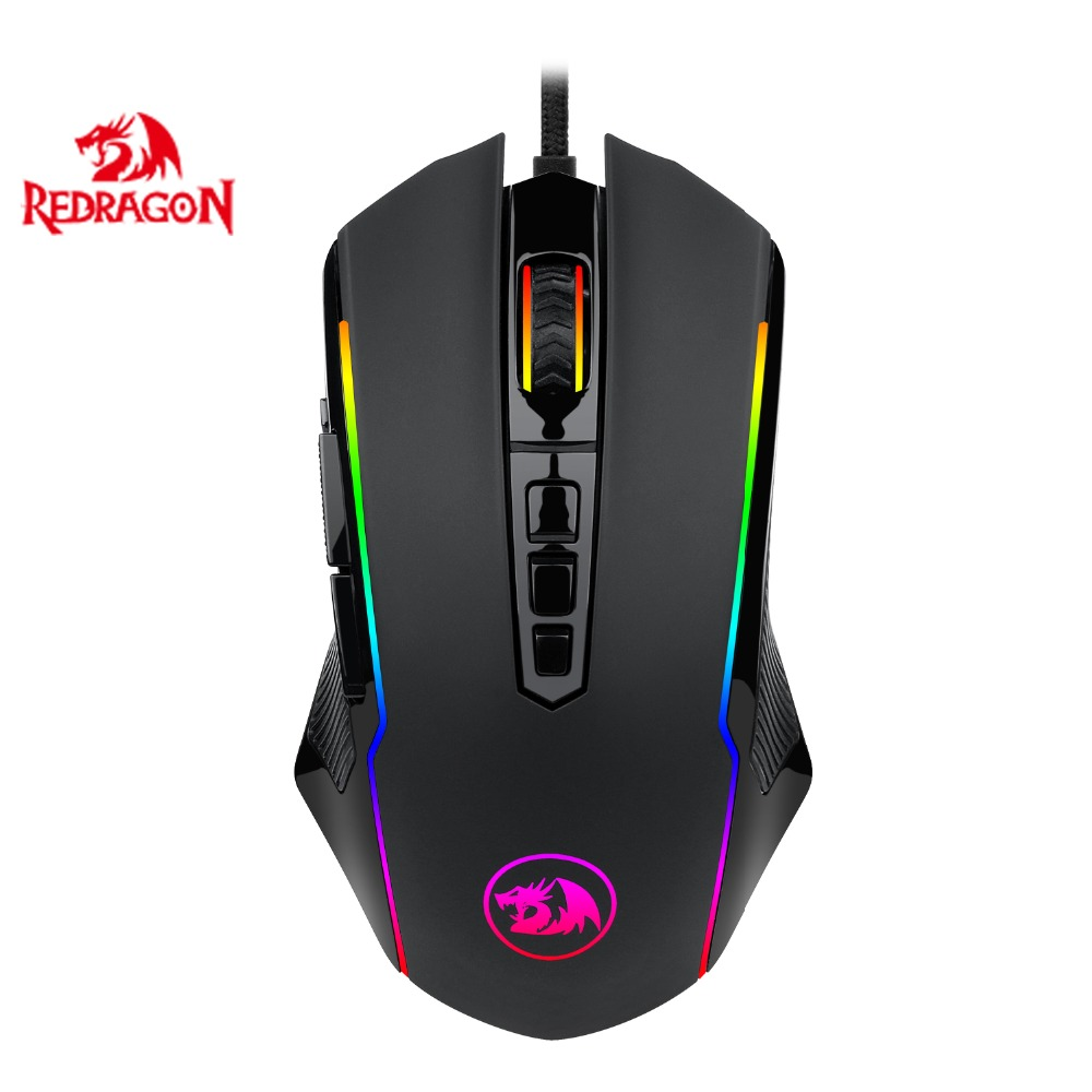 Redragon M910 Chroma Gaming Mouse, High-Precision Programmable Mouse With RGB Backlight Modes, Up To 12400 DPI User Adjustable