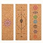 ①  Профессиональный коврик для йоги из натурального каучука Нескользящий коврик для йоги 3 мм Спортивны ①