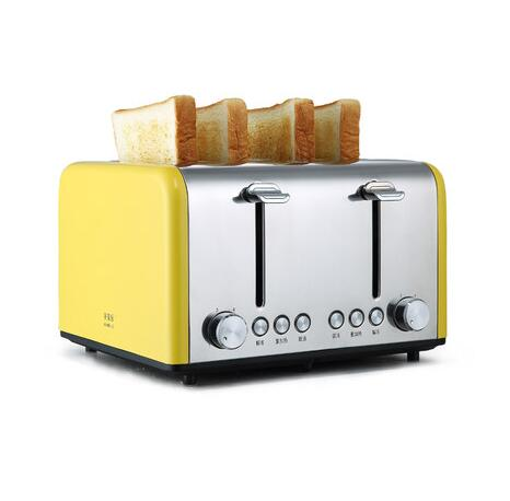 прибор сталь 4 - Free shipping 220v Automatic Commercial Cooking Appliance Stainless Steel 4 Pieces Electric Toaster for Breakfast