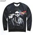 Primavera hip hop thrasher Newsosoo 2017 engraçado desin 3D impresso marca camisola homens/mulheres hoodies moleton masculino XS22