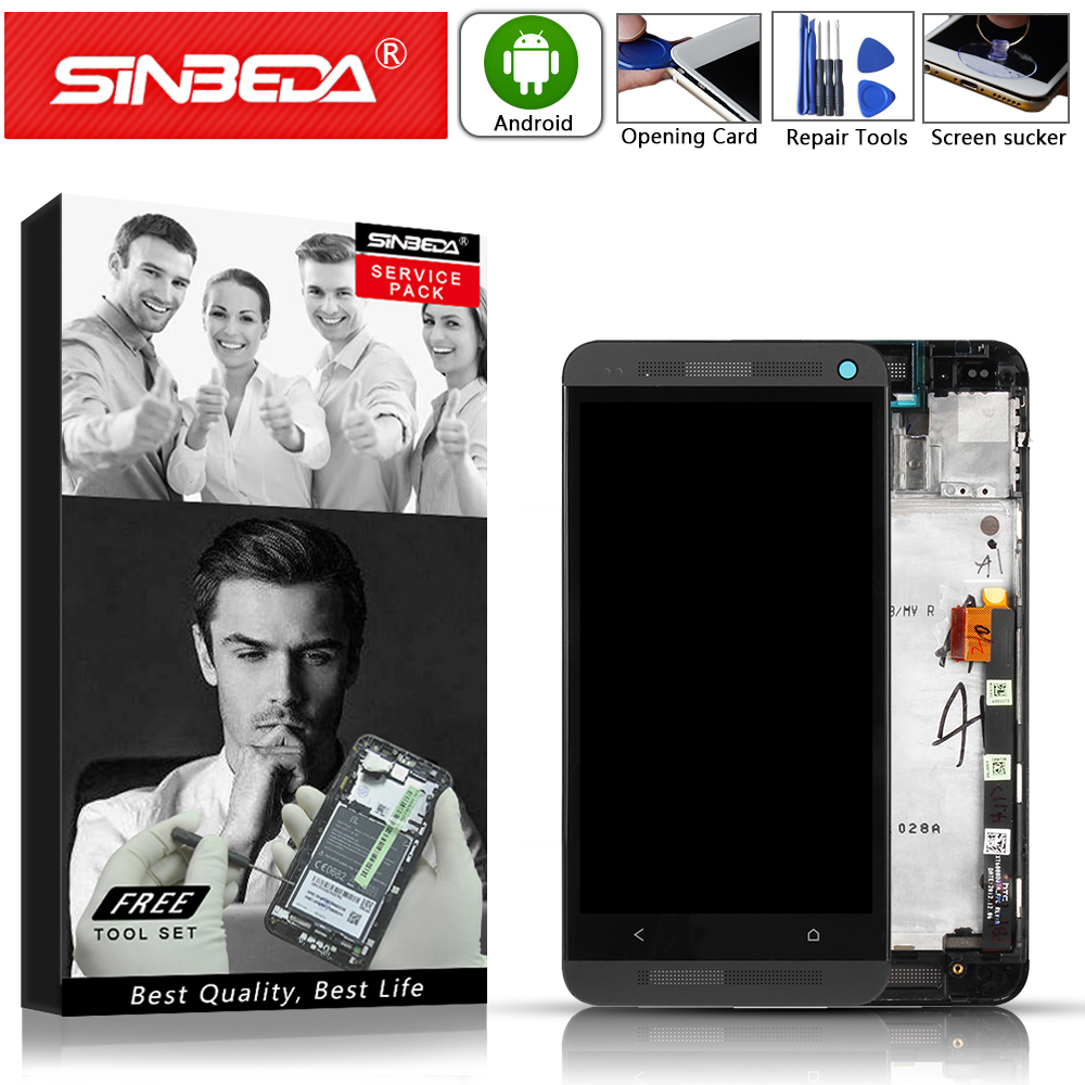Sinbeda 4.7 LCD Display Touch Screen with FrameFor HTC ONE M7 Digitizer For HTC One M7 Display Replacement For HTC 801E LCDSinbeda 4.7 LCD Display Touch Screen with FrameFor HTC ONE M7 Digitizer For HTC One M7 Display Replacement For HTC 801E LCD