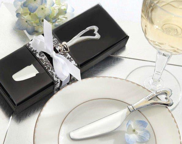 손님을위한 결혼 선물 및 gieaways 신부 샤워 호의 - 스위트 하트 버터 나이프 스프레더 파티 호의 선물 100pcs / lot