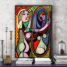 Picasso Women Artwork Posters and Prints Canvas Art Painting Wall Picture For Living Room Decor Home Decorative No Frame(China)