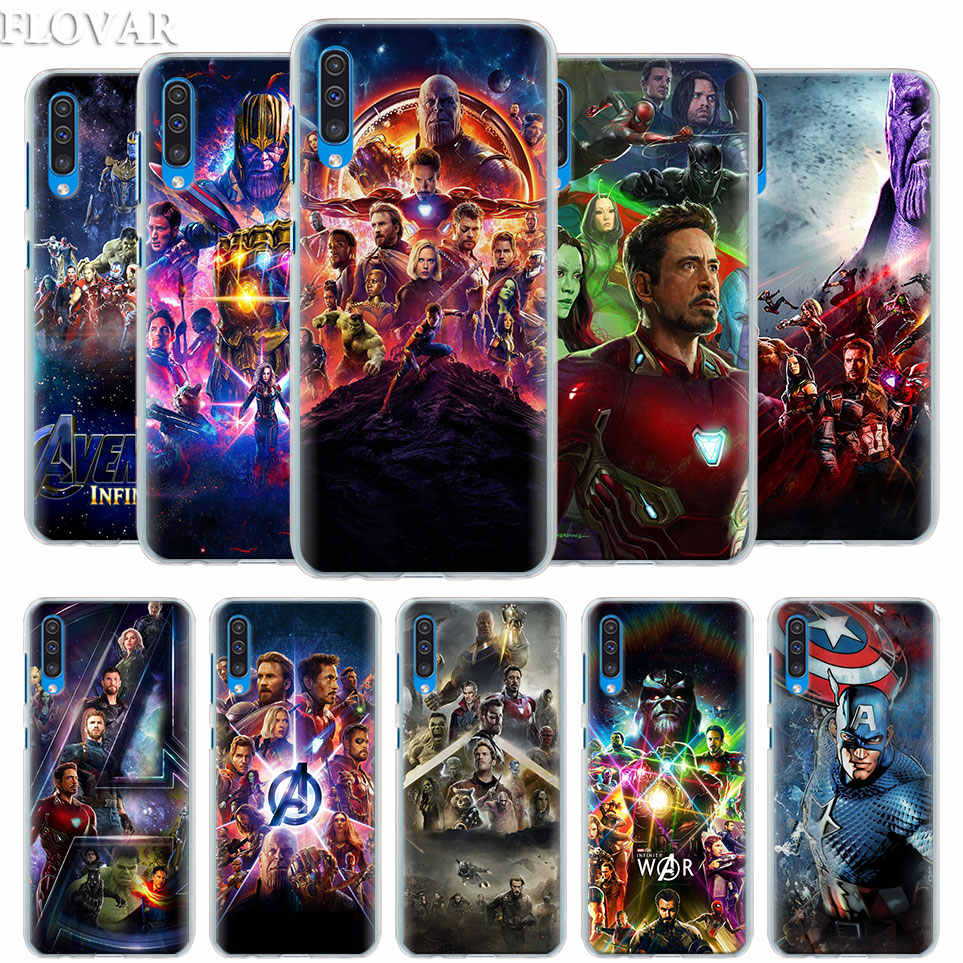 Marvel The Avengers Infinity War Case Cover for Samsung Galaxy A30 A40 A50 A70 A6 A8 Plus A7 A9 2018 M30 Phone Case Coque