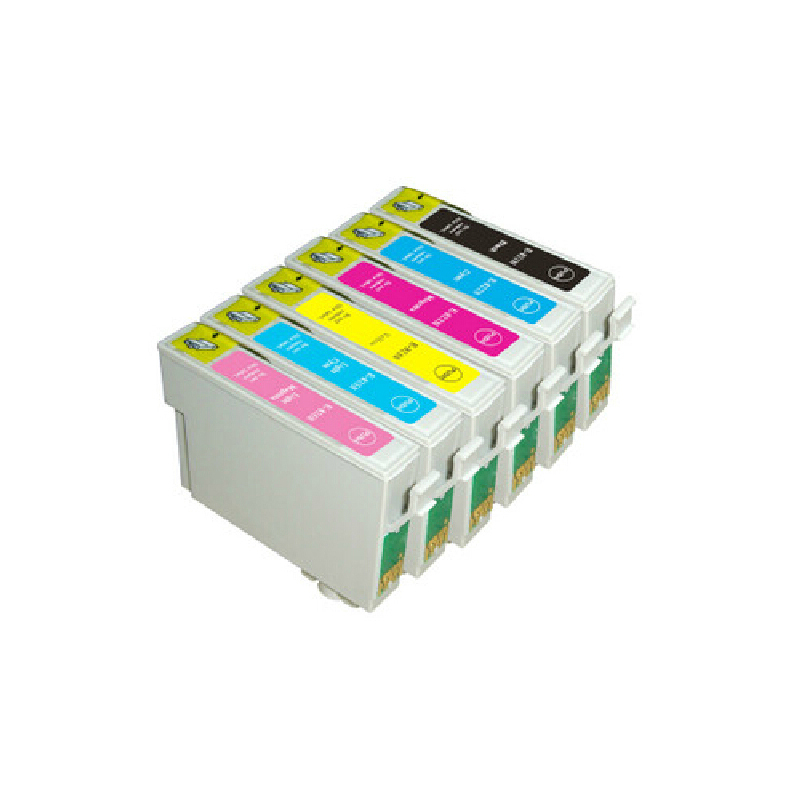 Vilaxh 4pcs Compatible Ink Cartridge T0801 T0806 For EPSON Stylus Photo R265 R285 R360 RX560 RX585 RX685 PX700W PX800FW in Ink Cartridges from Computer Office