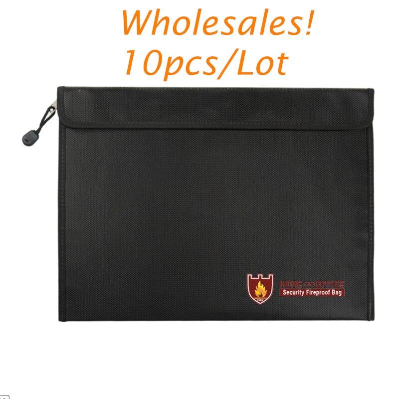 10 pc ignifuge résistant au feu Document sac porte-fichiers sans démangeaison liquide Silicone enduit fit pour argent bijoux passeport RC batterie