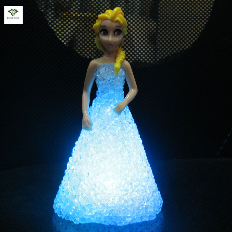 buy 1pc elsa led light snow queen elsa birthday lamp cake topper candle. Black Bedroom Furniture Sets. Home Design Ideas