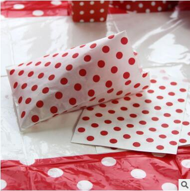 60Pcs/Lot Food Grease Proof Paper Bag Polka Dot Snack Bags Popcorn Food Gifts Candy Treat Bags Wedding Birthday Buffet Party Dec