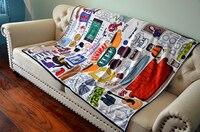 New Friends tv show central perk hugsy yellow frame soft blanket dust cover 120*150cm 100*150cm