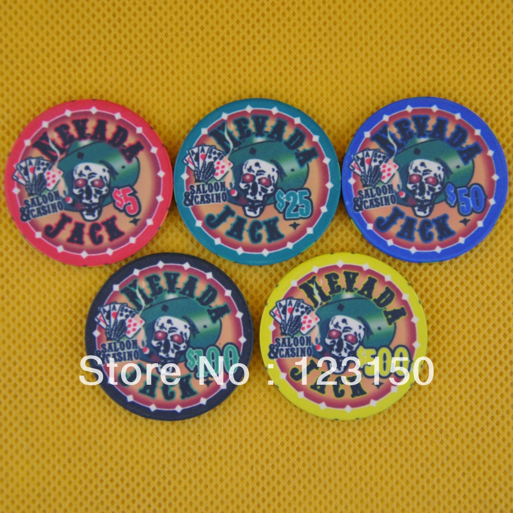 CP-014 Dead Head 10G ceramic poker chip set without case - 500 piece