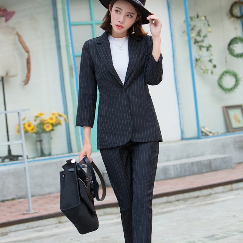 f41827b922308 Work Office Ladies Pants Suit Spring Fashion Slim Casual Womens ...