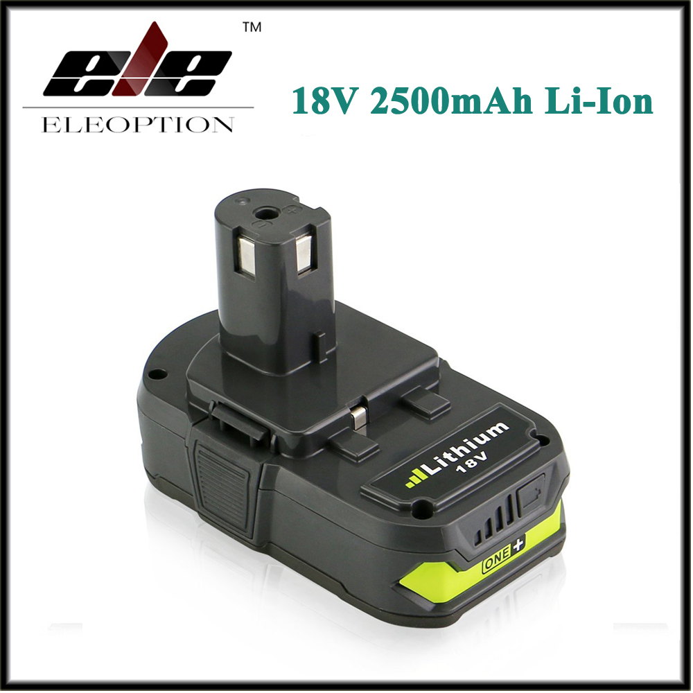 Eleoption 18V 2500mAh Li Ion Rechargeable Battery For Ryobi RB18L25 One Plus for font b power