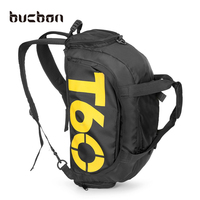 Bucbon Men Sports Gym Bag Women Fitness Bag Separated Shoes Storage Rucksack Portable Shoulder Bag Hide