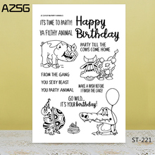 Happy birthday/animals Transparent Silicone Stamp for DIY Scrapbooking/Photo Album Decorative Card Making Clear Stamps Supplies