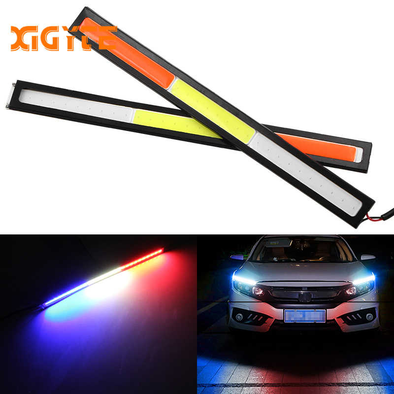 17CM Car LED COB DRL Daytime Running Light Waterproof 12V External Led Car Light Source Parking Fog Bar Lamp Red White Blue