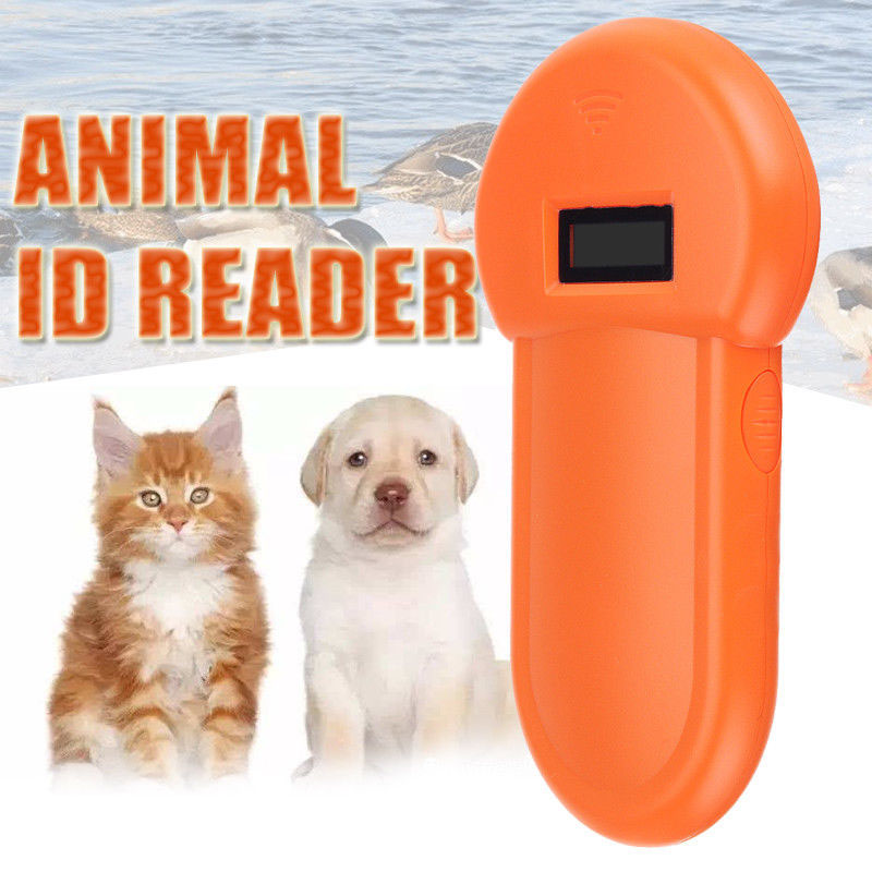 Scanner Id-Reader Pet-Microchip Ear-Tag Lcd-Display Recognition RFID Animal Portable