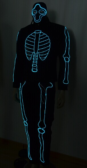 Free shipping EL Wire light suit / EL wire costume-in Ballroom from ...