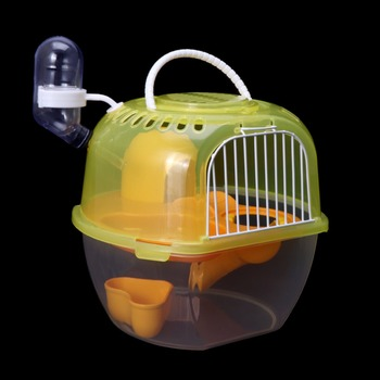 Hamster Cage Outdoor Portable Travel Double Layer Living House Carrying Plastic Habitat Cages Small Animal Supplies