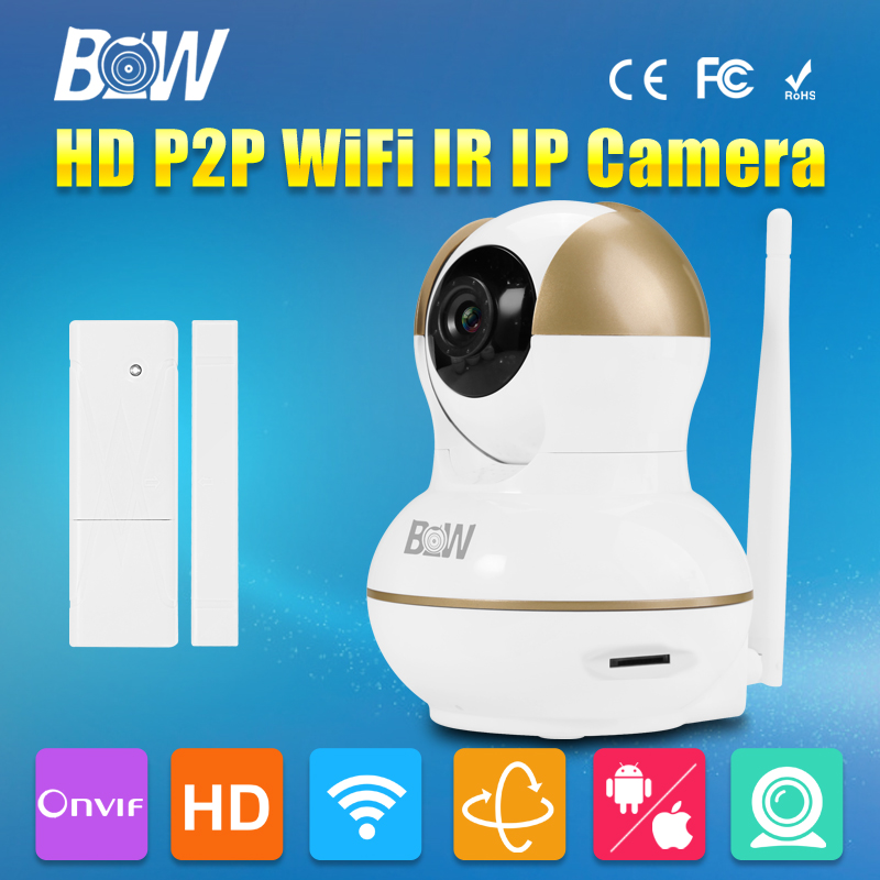 ФОТО BW HD 720P 3.6mm Endoscope Mini IP Camera WiFi Free IOS & Android & Pad APP Surveillance CCTV Automatic with Door Sensor Alarm