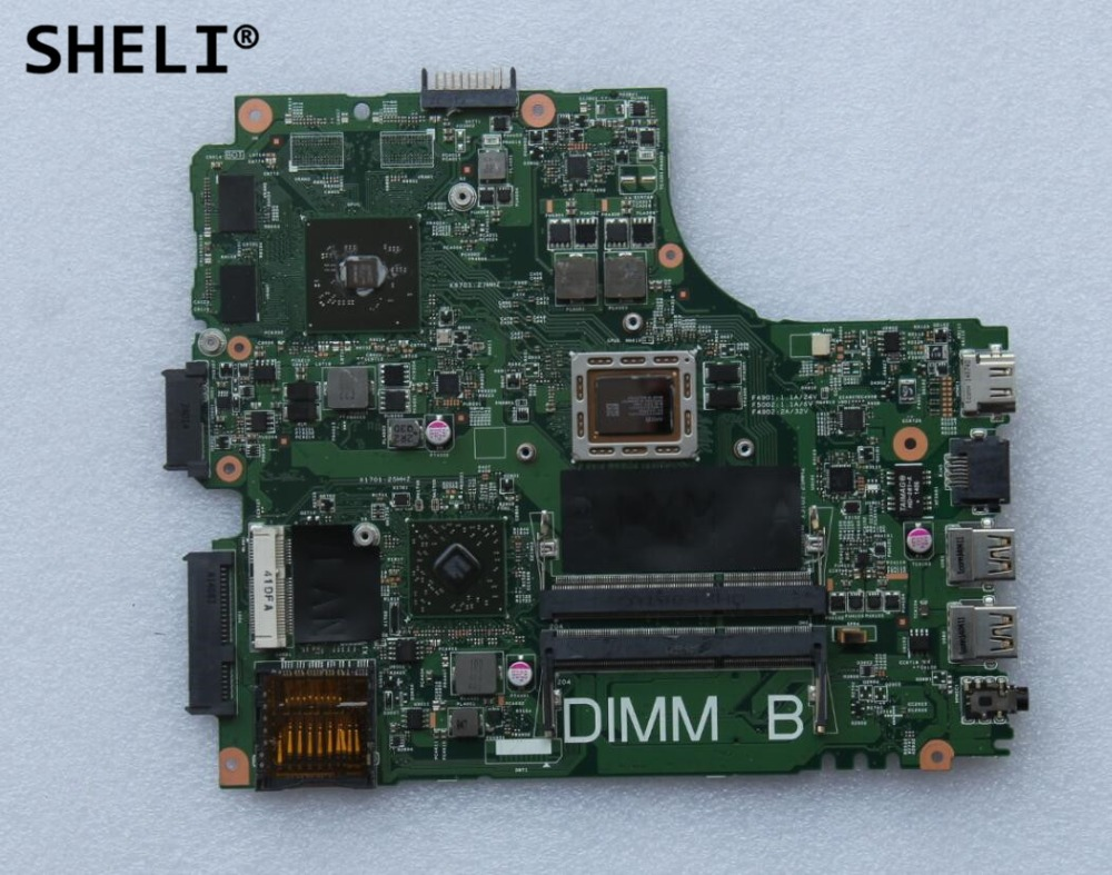 SHELI For Dell M431R 5435 Motherboard with A8-5545M cpu DNE40 CN-0616FF 0616FF 616FF sheli for dell 1645 motherboard with hd 4670 1gb da0rm5mb8e0 cn 0y507r 0y507r y507r