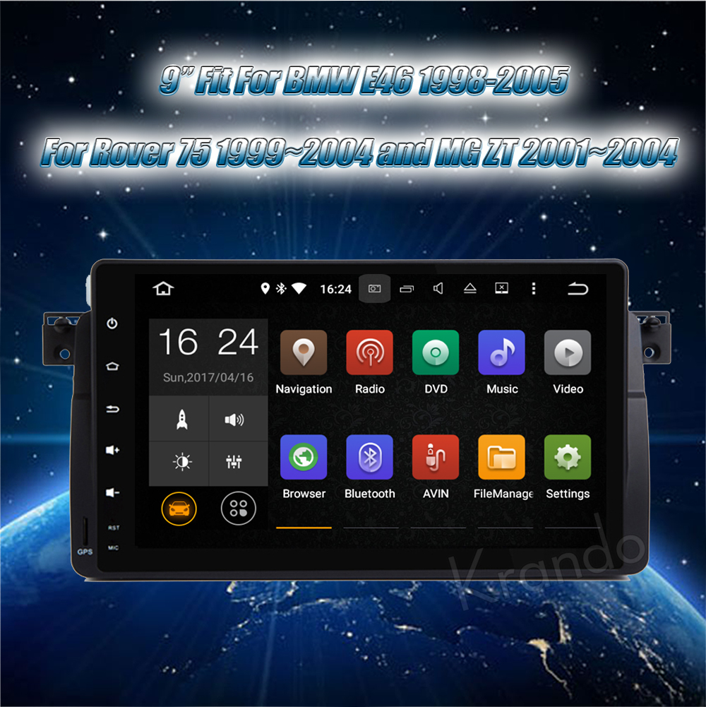 """Sale Krando Android 8.1 9"""" Full Touch Car Radio Player Gps"""