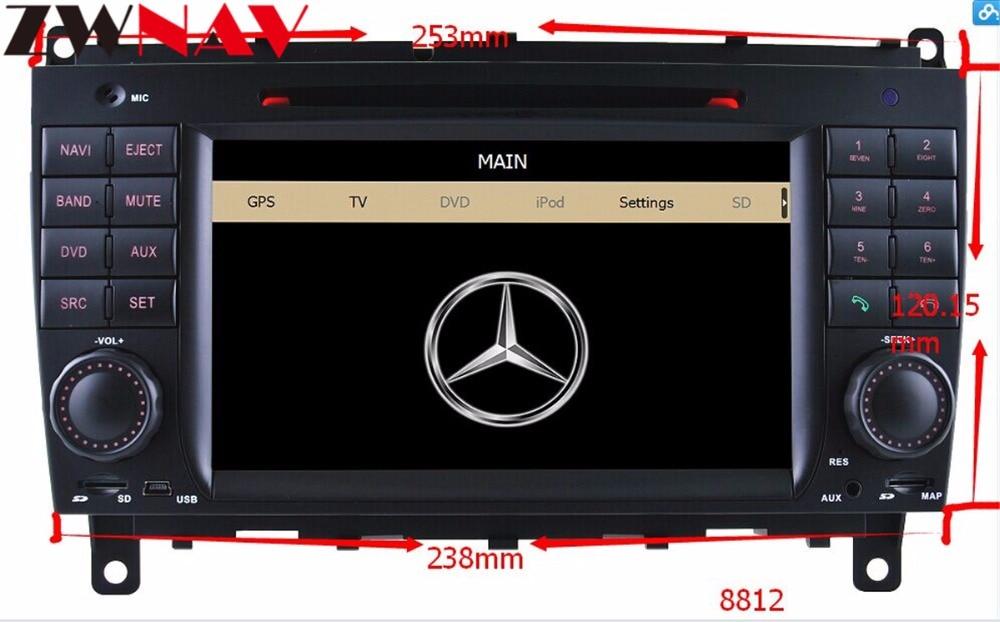 Voiture Radio Android 8.0 Voiture Lecteur DVD GPS pour Mercedes Benz CLK W209 2006-2012 CLS W219 2004- 2008 multimédia stéréo avec 8 core