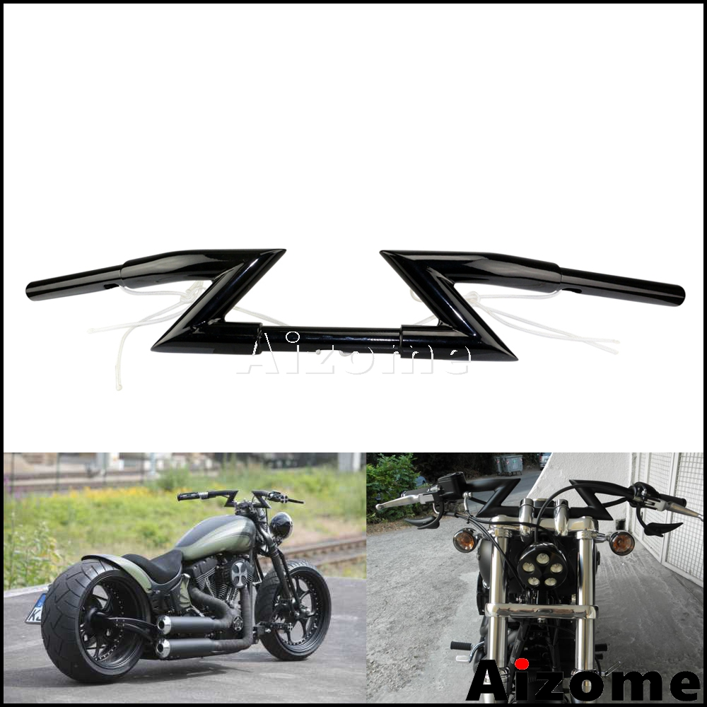 7//8 22MM Lenker Z Lenker Universal F/ür Harley Sportster Cruiser XL 883 1200 Custom Chopper Softail Dyna Street Bob Schwarz