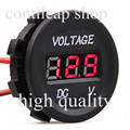 IZTOSSB700A-R Automobile Motorcycle DC12V to 24V LED Digital Voltmeter 2pcs 15cm cable (1pcs black+1pcs red)