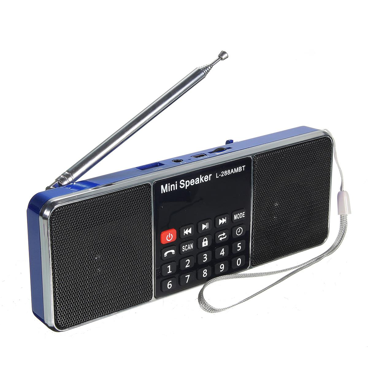 New Bluetooth Portable Lcd Fm Am Radio Stereo Speaker Mp3 Music One Chip Receiver Player Micro For Sd Usb Dual Loudspeaker
