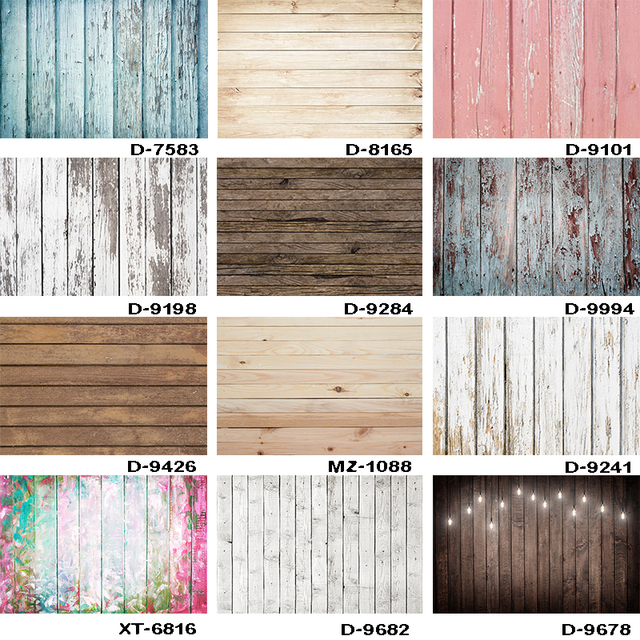 Vintage Wood Floor Background for Photographers Wooden Board Planks Texture Customized Photography Backdrops for Photo Studio