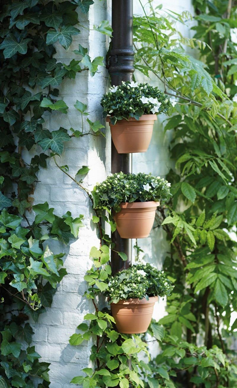 3 Pclot Unique Gutter Downspout Garden Flower Pot Drain Pipe Flower