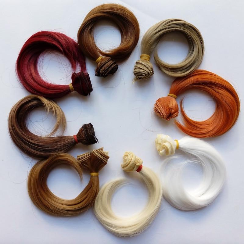8 PCS / LOT Nouvelle Arrivée Poupée Accessoires Fiber Synthétique Bouclés Cheveux BRICOLAGE BJD Cheveux 15CM