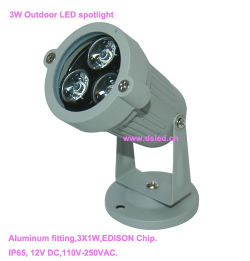CEwaterproofgood qualityhigh power outdoor 3W LED spotlight LED projector light DS-06-45-3W110-250VAC2-year warranty