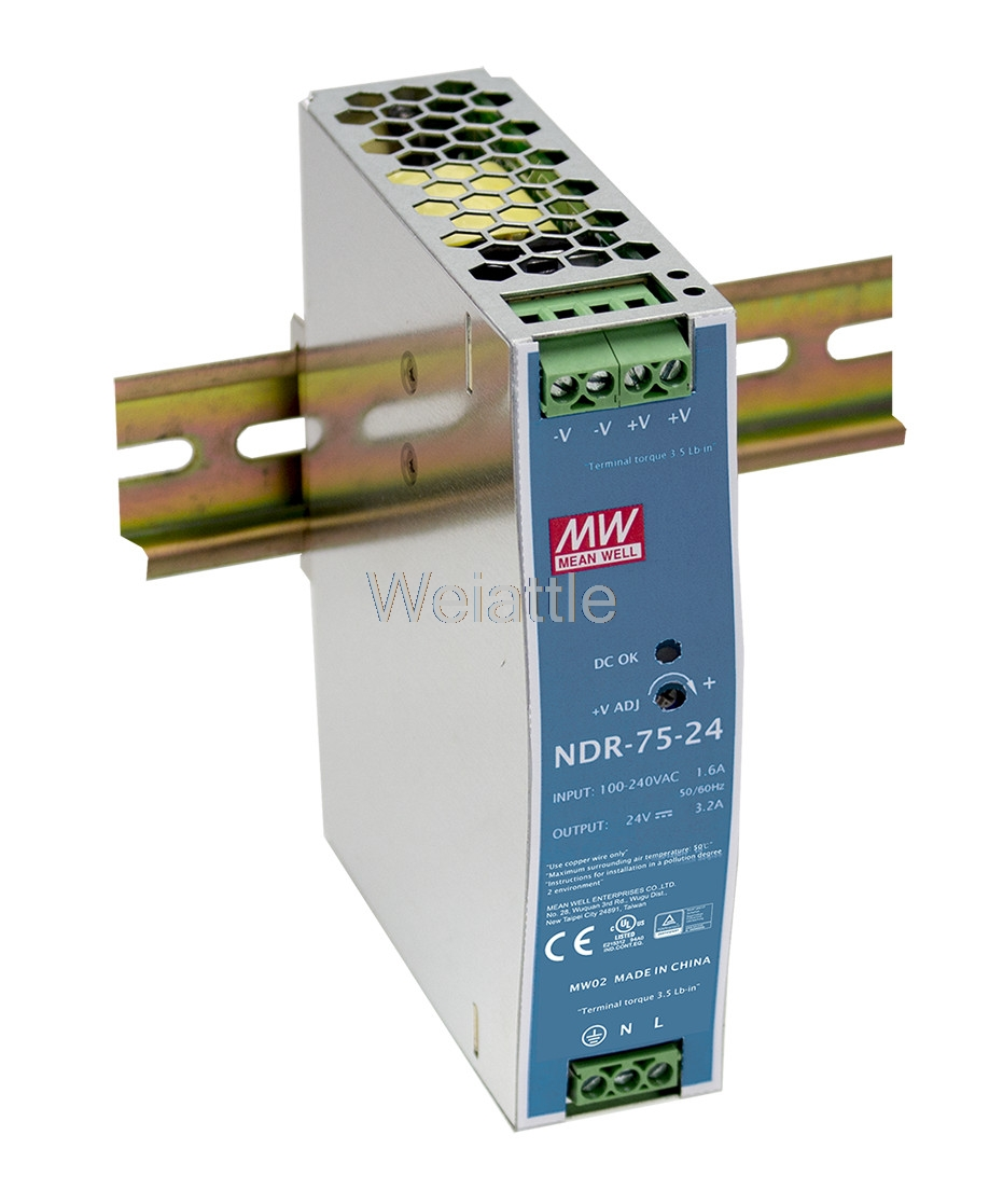 MEAN WELL original NDR-75-24 24V 3.2A meanwell NDR-75 24V 76.8W Single Output Industrial DIN Rail Power Supply elbphilharmonie hamburg ndr elbphilharmonie orchester