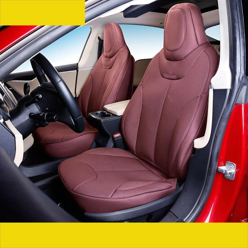 Lsrtw2017 fiber housse de siège de voiture en cuir pour tesla model s 75d 90d 100d 60d 80d 2014 2015 2016 2017 2018 2019
