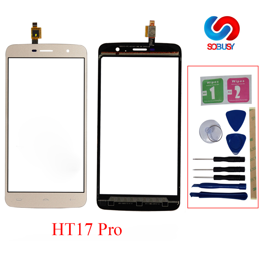 5.5'' Touchscreen For <font><b>Homtom</b></font> HT17 pro HT17 Touch Screen Panel TP Digitizer Lens Sensor Replacement+Repair Tools+3M Tape Adhesive image