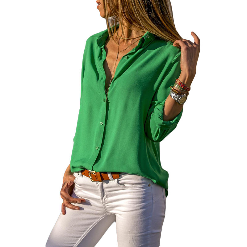 Autumn Blouse Women Solid Womens Tops And Blouses Big Sizes Plus Size 2018 Chiffon Blouse Long Sleeve Work Wear Office Blouse    3