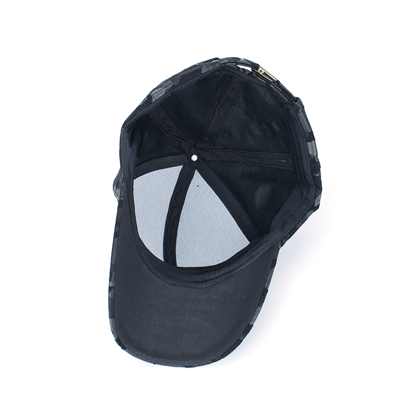 AKIZON Wholesale PU Fitted Hat Baseball Cap Casual Camouflage Dot ... 36cec622d068