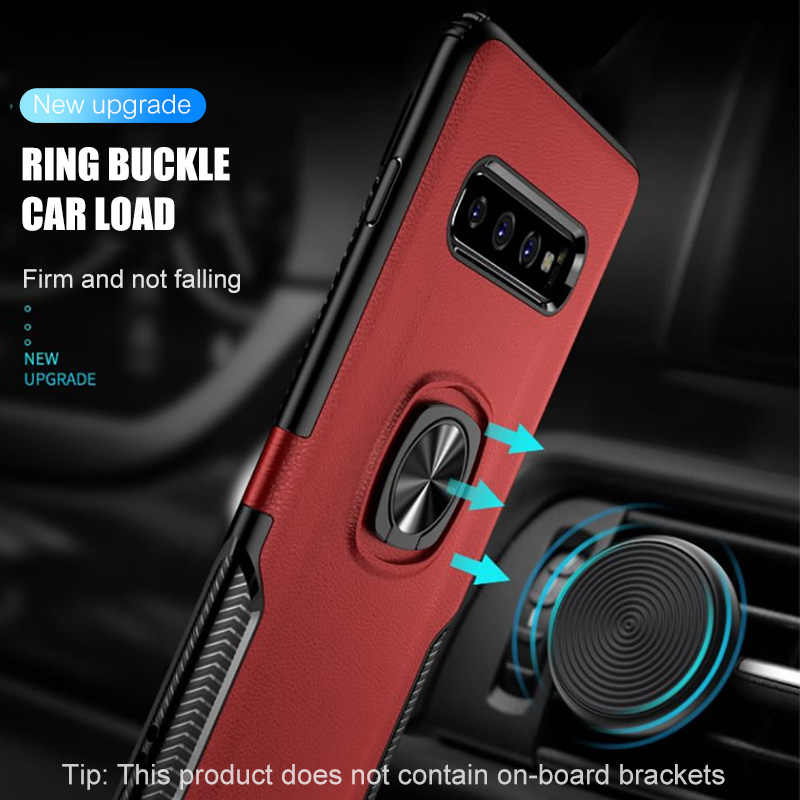 H&A Luxury Shockproof Phone Case For Samsung Galaxy S10 Lite S10 Plus Magnetic Ring Stand Phone Cover For Samsung S10Lite Case