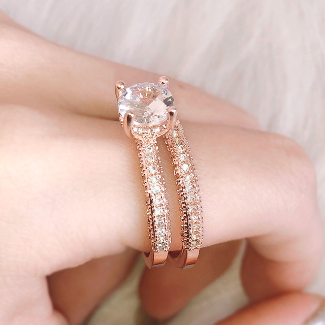 ZN Wedding Engagement Rings for Women  Rose Gold White gold Women Fashion 5