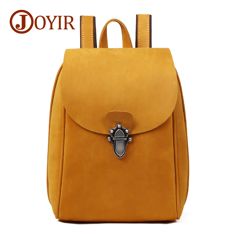 купить JOYIR Genuine Leather Women Backpack Vintage School bags for Teenagers Girls Female Backpacks Women Travel Bags 2018 Brand 8664 по цене 3952.69 рублей