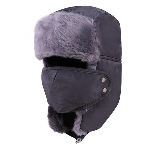 Winter Hat Bomber Hats For Men Women Thicken Balaclava Cotton Fur Winter Earflap Keep Warm Caps Russian Skull Mask Bomber Hats Lahore