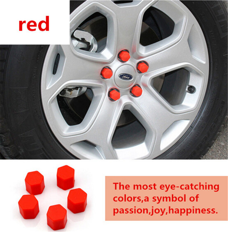 Car Styling 20pcs/set Silica Gel Wheel Nuts Covers Protective Car Accessories Caps Hub Screw Protector For CHEVY TIGGO 5