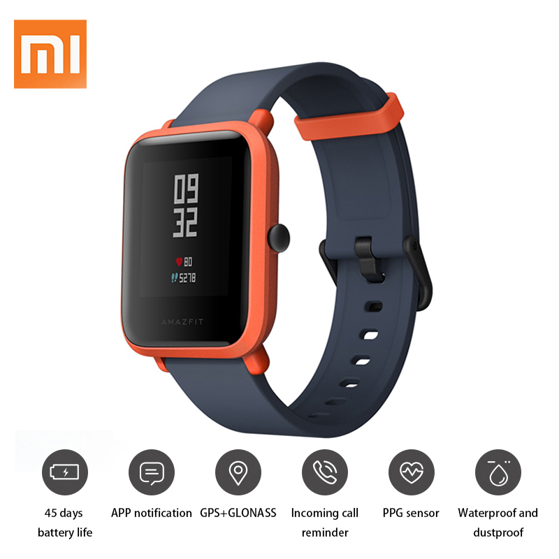 English Version Xiaomi Huami Amazfit Bip Pace Youth Smart Watch Mi Fit 1.28 Screen 32g Ultra-Light IP68 Waterproof GPS Watch [english version] xiaomi huami amazfit bip bit pace lite youth mi fit ip68 waterproof glonass smart watch gps english language