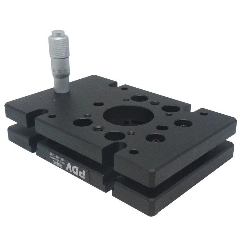 PT-QX01 One-Axis High Load Tilt Platform, Precise Manual Tilt Stage, Tilt Range: +/- 3 degree pq250 4l two axis tilt platform precise manual tilt stage with two fine adjusting screws pitching 4 yawing 2