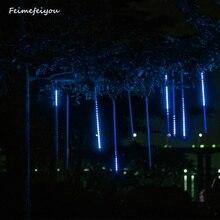 Feimefeiyou метеоритный дождь трубы светодиодный рождественские светильники для занавески вечерние садовые рождественские украшения для елки AC85-240V