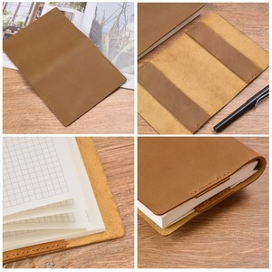 Image 3 - Vintage Genuine Leather Notebook Diary Cover A5 A6 size Handmade Protective Journal Cover Cowhide Sketchbook Planner