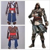 Assassins Creed 4 Black Flag Эдвард Кенуэй костюм целый набор игры Хэллоуин Косплэй костюмы для Для мужчин и горе Для мужчин