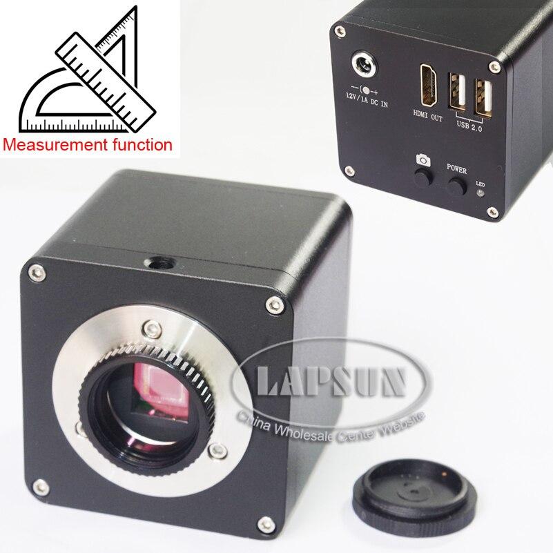 Medición y escala 12MP 1080 P 60FPS FHD HDMI Digital Industrial microscopio cámara C montaje-in Microscopios from Herramientas on AliExpress - 11.11_Double 11_Singles' Day 1