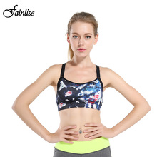 Fainlise Printed Sexy Women Bra Comfortable Wirefree Female Underwear Full Cup Padded Women Intimates